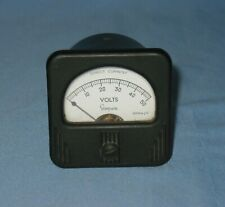 Vintage Simpson Volts Direct Current Panel Meter Gauge 0 50