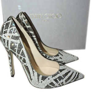 f9a2efc4254  2795 Jimmy Choo ANOUK Pointy Toe Pumps Crystals   Pearls Heels ...