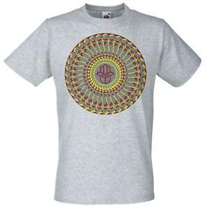Grey-Spiritual-Psy-Trance-Hamsa-Hand-T-Shirt-Psychedelic-Goa-Mandala-TShirt