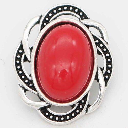 kompatibel mit Chunk Armband Button Klick Design 6630 antik silberfarben 20mm