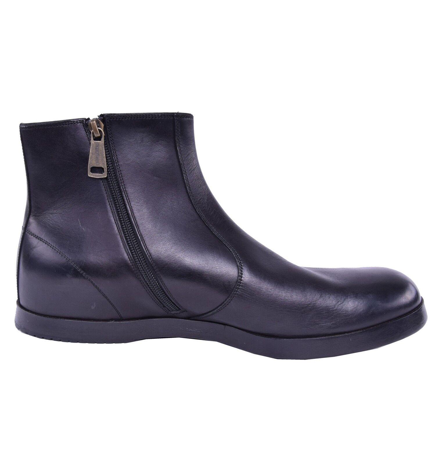 DOLCE & GABBANA Zip Closure Boots Shoes Mat Black 03832