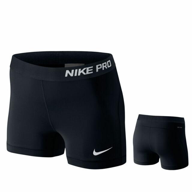 Nike Pro 3 Inch Compression Womens XS Training Fitness Shorts 589364 Black