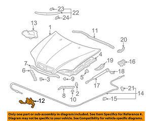 Acura HONDA OEM 02-06 RSX Hood-Lock Latch 74120S6M506