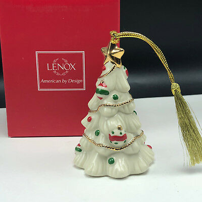 Lenox Christmas Ornaments.Lenox Christmas Ornament Very Merry Porcelain Nib Box Figurine Tree Holiday Star Ebay