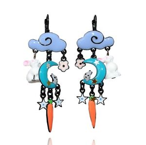 Lol Bijoux Bleu Vert Boucles d/'Oreilles Chouettes Lolilota Nuage