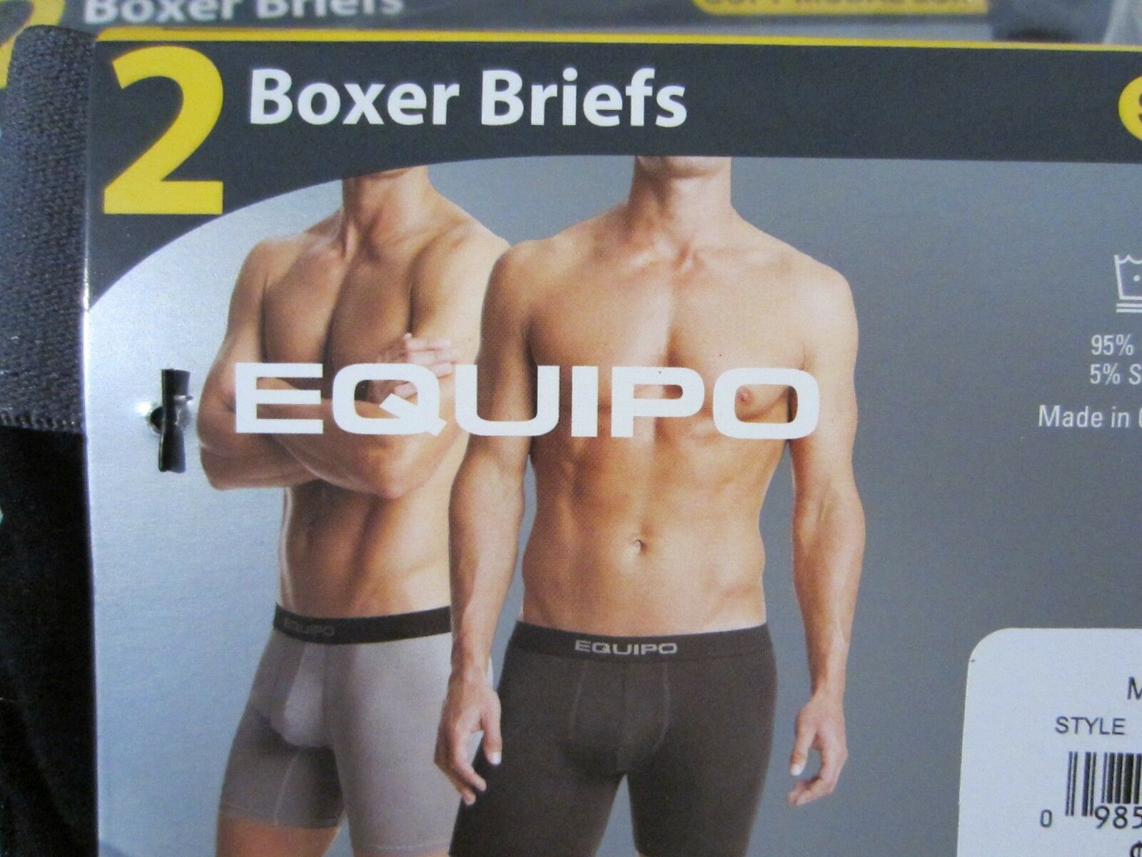 EQUIPO 4-PACK MEN BOXER BRIEFS SIZE MEDIUM NEW 32-34 PERFORMANCE STRETCH