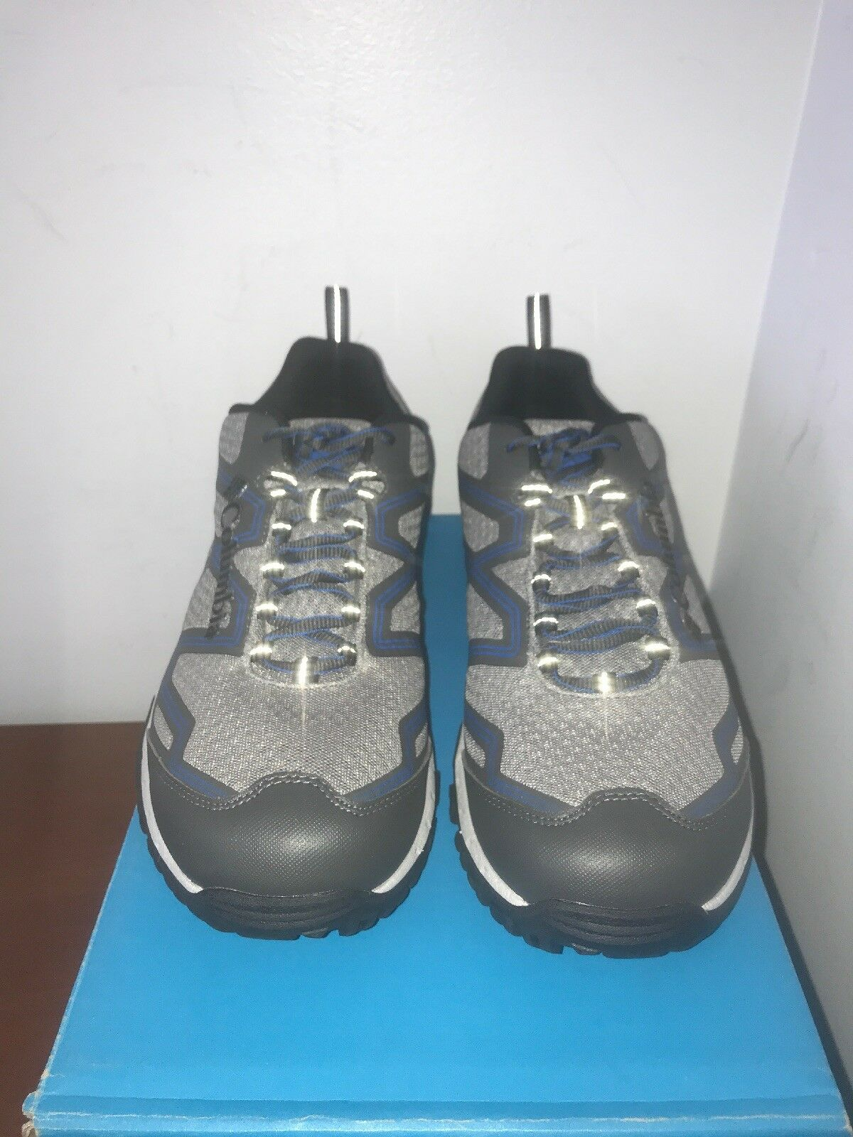 NIB COLUMBIA PINE blueFFS OMNI-TECH MEN'S WATERPROOF TRAIL HIKING SHOES - size 12