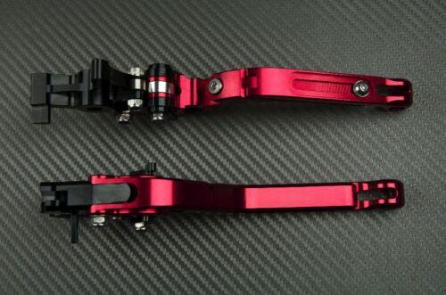 Faltbare Einstellbarer Hebel Paar Flip Up Rot CNC SUZUKI GSXR 750 SRAD 1996 1999