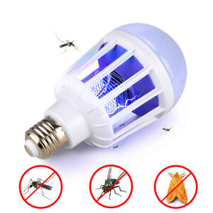 LED-Insect-Zappers-Bombilla-Mosquito-Fly-Insecto-Asesino-Lampara-Trampa-Zapper