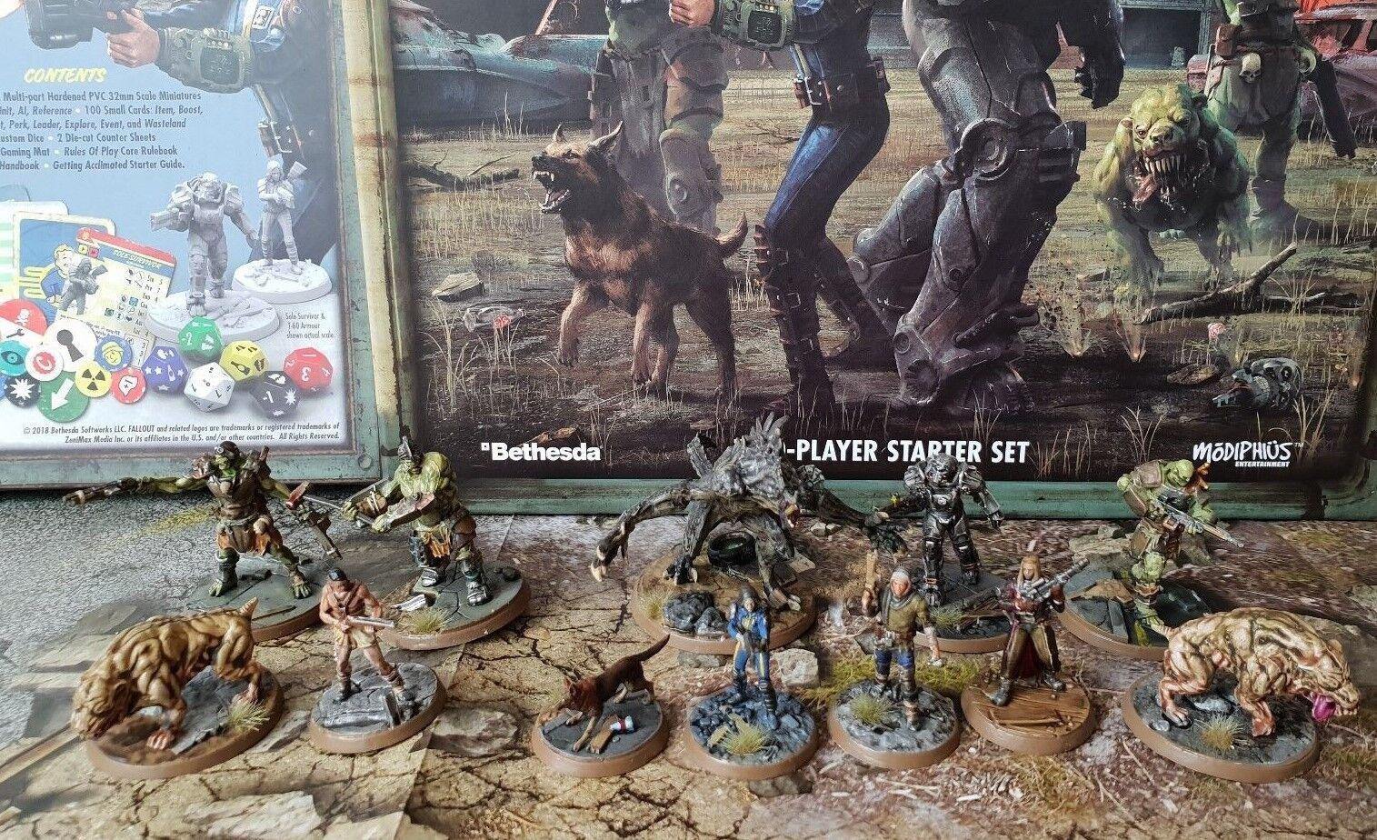 Nedfall ödemark warfareTwo spelaer Stkonster Set Pro målad efter bästeällning