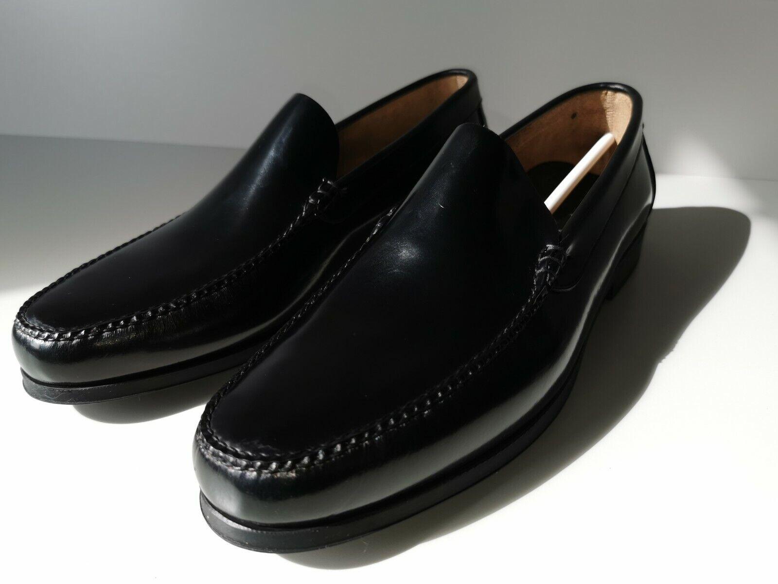 Moka Saint Dark Brown Leather Men Casual Shoes Size EU 46 UK 11