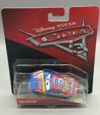 Disney Pixar Cars 3 Rex Revler 1:55 Scale 2016 DieCast Mattel NEW DMG BOX