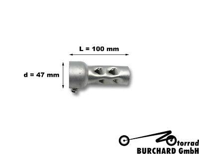 Nachr/üstzubeh/ör 48mm Durchmesser 140mm Lang Langer Motorradauspuff Schalld/ämpfer DB-Killer-Einsatz