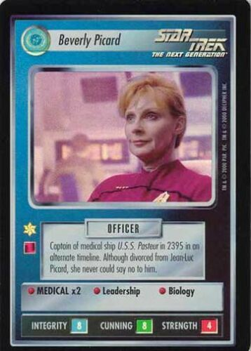 Star Trek CCG Reflections Beverly Picard Super Rare Foil SRF