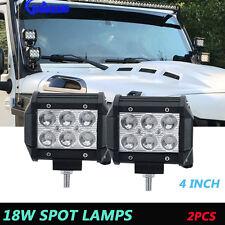 2x 4inch LED Work Light Spot Pods Fog Reverse Pickup 4x4 Bumper Offroad Polaris
