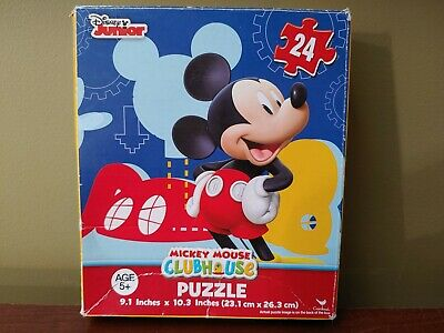 Disney Mickey Mouse Tower Box Puzzle 24 Pcs Educational Toy Size 9.1x10.3 Inch