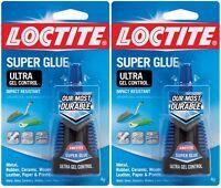 2 Loctite Super Glue Ultra Gel Control Clear High Strength 4 Grams 1363589
