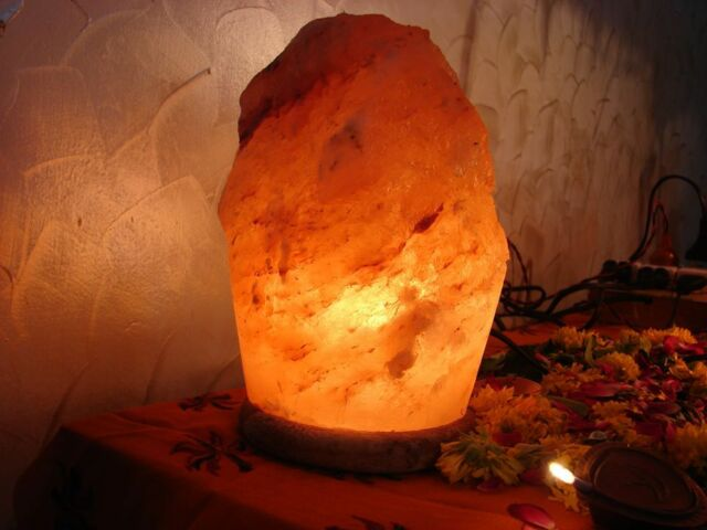 Himalayan Rock salt lamp 2-3 KG with all fittings (17-20 cm long)Best Quality