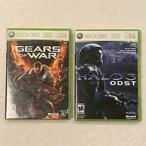 Xbox 360 Lot Of 2 Halo 3 ODST & Gears Of War, Complete