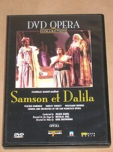 DVD OPERA / PLACIDO DOMINGO / SAMSON ET DALILA / SAN FRANCISCO OPERA ...