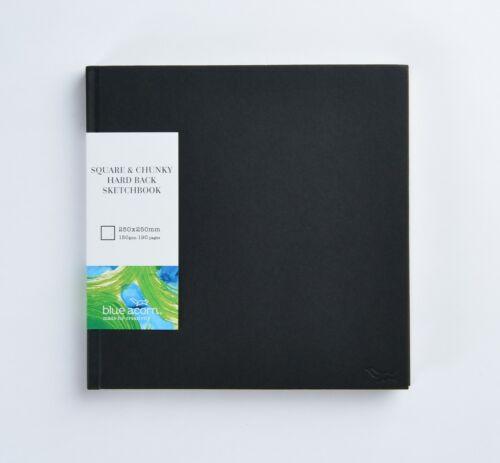 Blue Acorn quadrato e trama grossa Sketchbook 250mm x 250mm 190pp