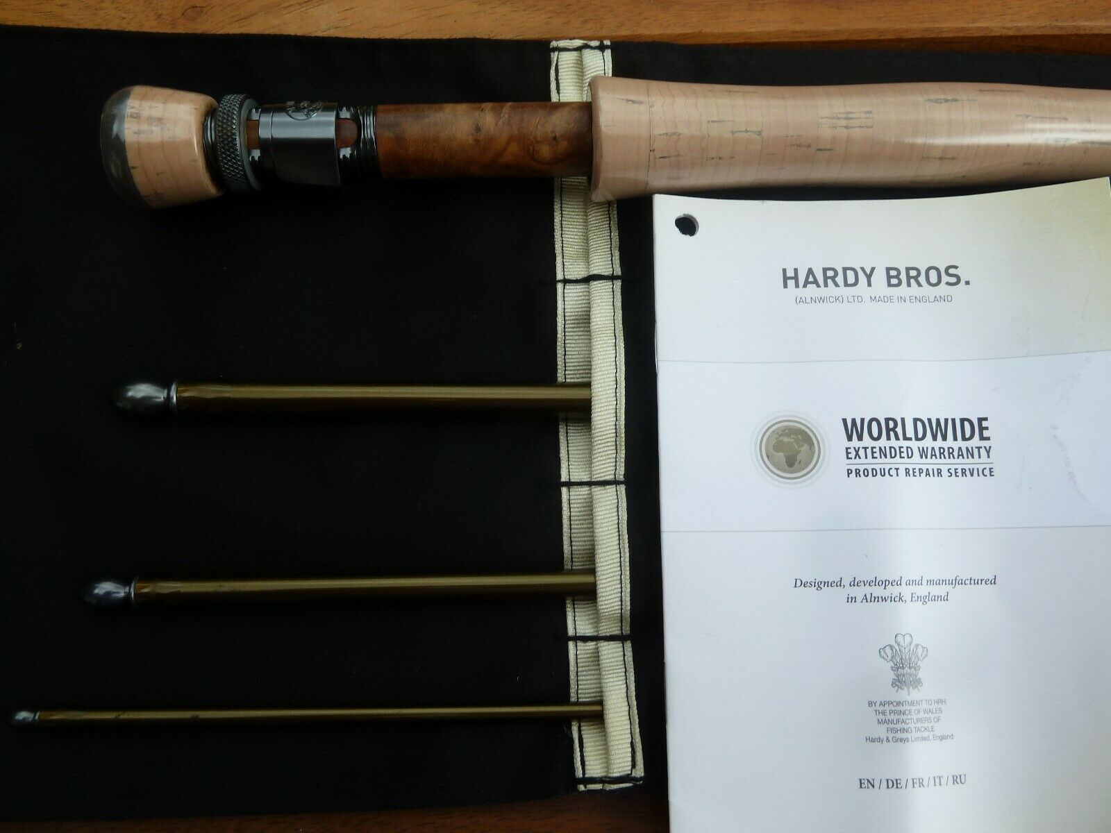 Hardy artesano 550 Sintrix 10'  7 Fly Fishing Rod último rojoucida,