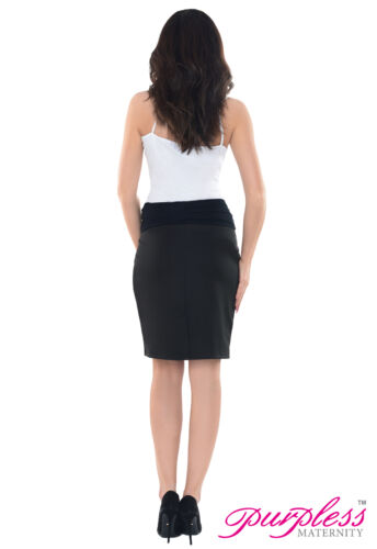 Purpless Maternity Pregnancy Workwear Formal Pencil Elasticated Band Skirt 1504