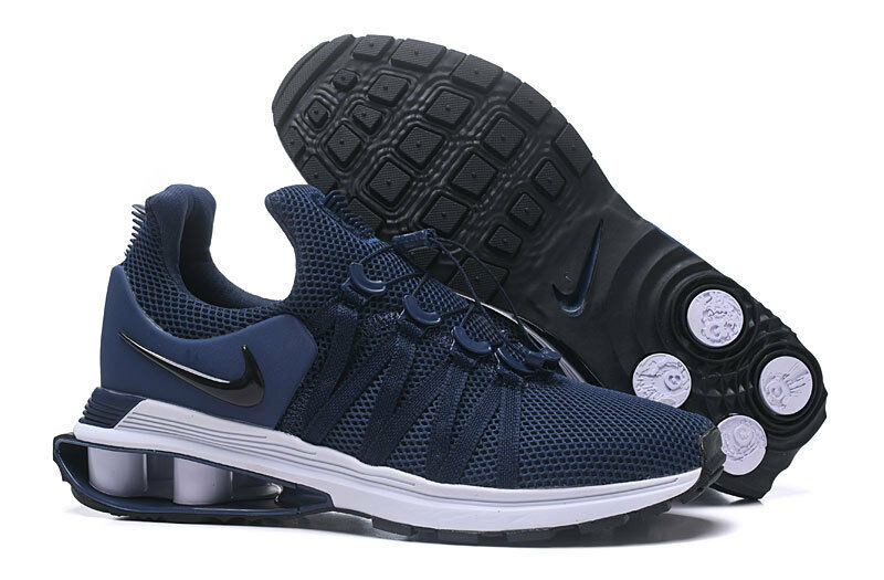 NIB Hommes NIKE SHOX GRAVITY NZ EU OBSIDIAN NAVY Bleu ATHLETIC RUNNING Chaussures