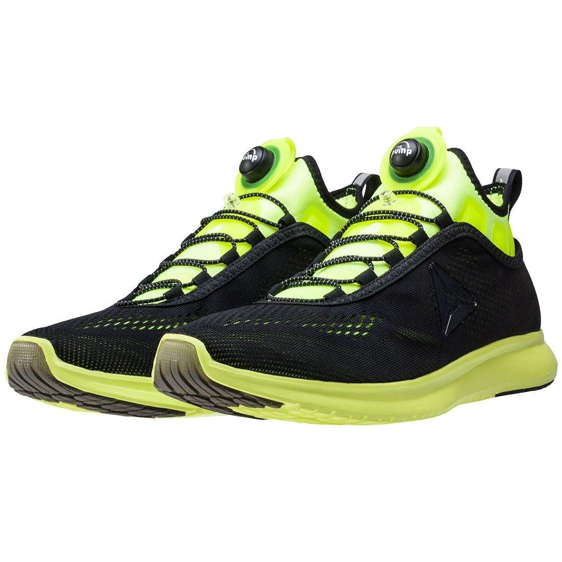 Reebok Pump Plus Tech Black Training Lime Mens Shoes Training Black Sneakers BD4864 NEW 872b53