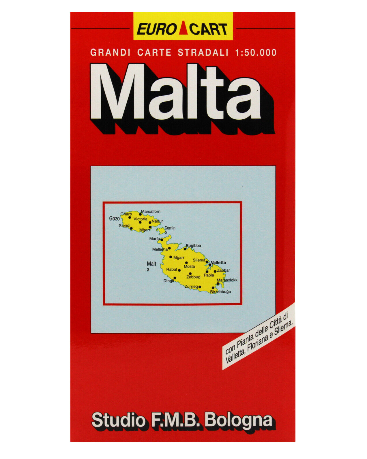 Malta Cartina Stradale.Malta Cartina Stradale Scala 1 50 000 Carta Mappa Poster Studio F M B Ebay