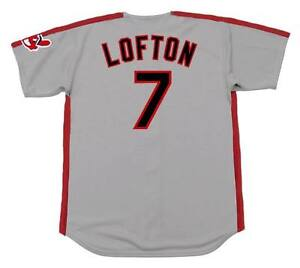 buy popular 16692 13274 Details about KENNY LOFTON Cleveland Indians 1993 Majestic Throwback Away  Baseball Jersey