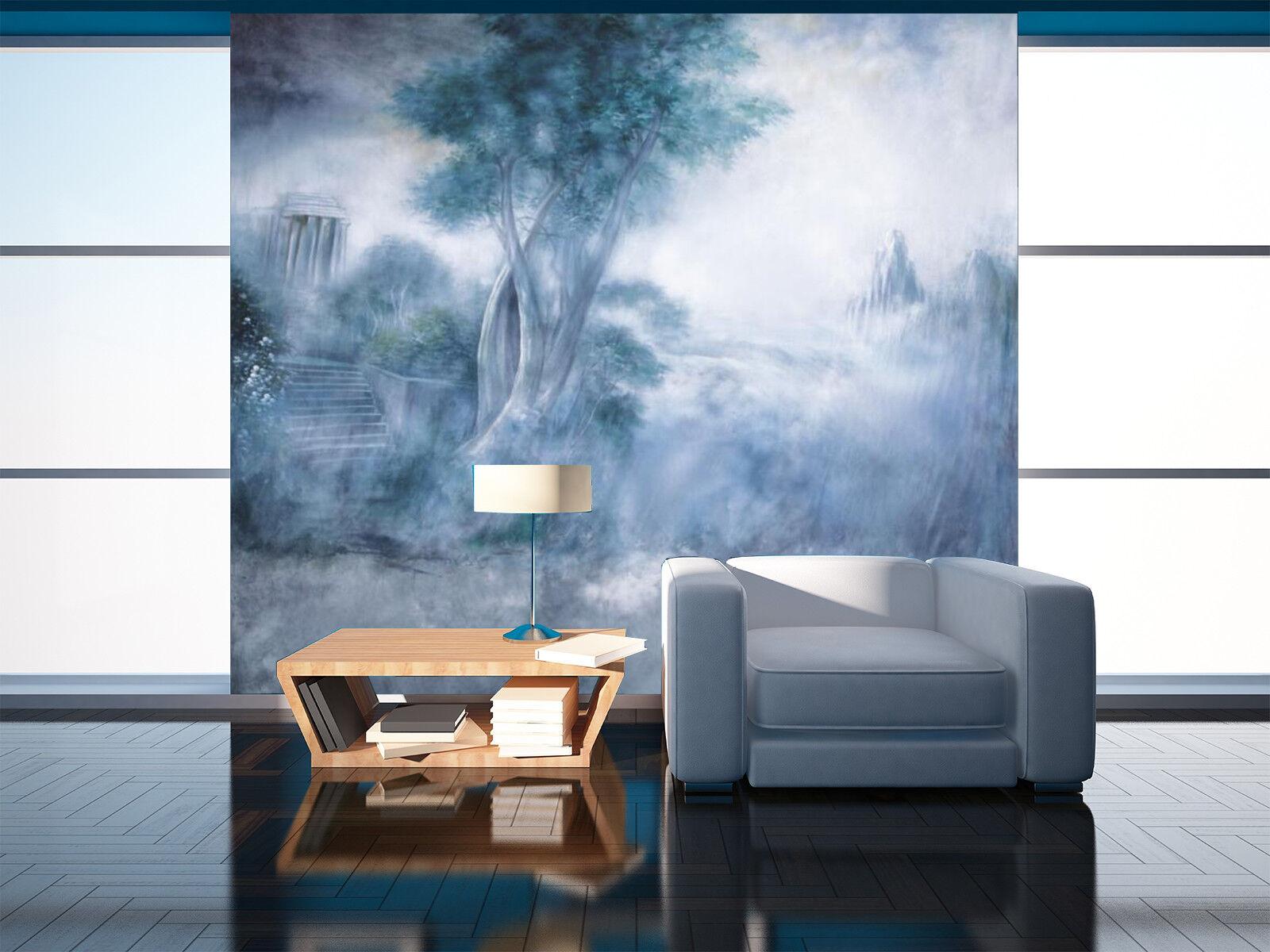 3D Tree Painting 4 Wallpaper Murals Wall Print Wallpaper Mural AJ WALL AU Lemon