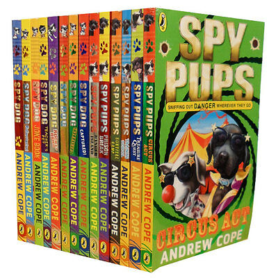 14 Books Set Spy Pups & Spy Dog Series Collection Andrew Cope Pack Rollercoaster