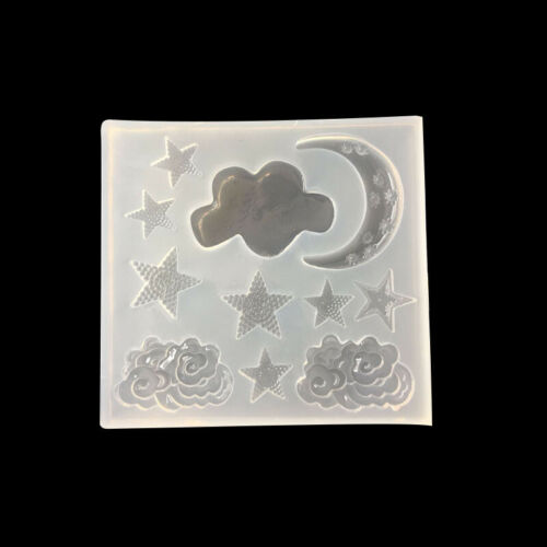 Mirror Bow Moon Star Silicone Mold Mould For Epoxy Resin DIY Pendent Xmas Craft