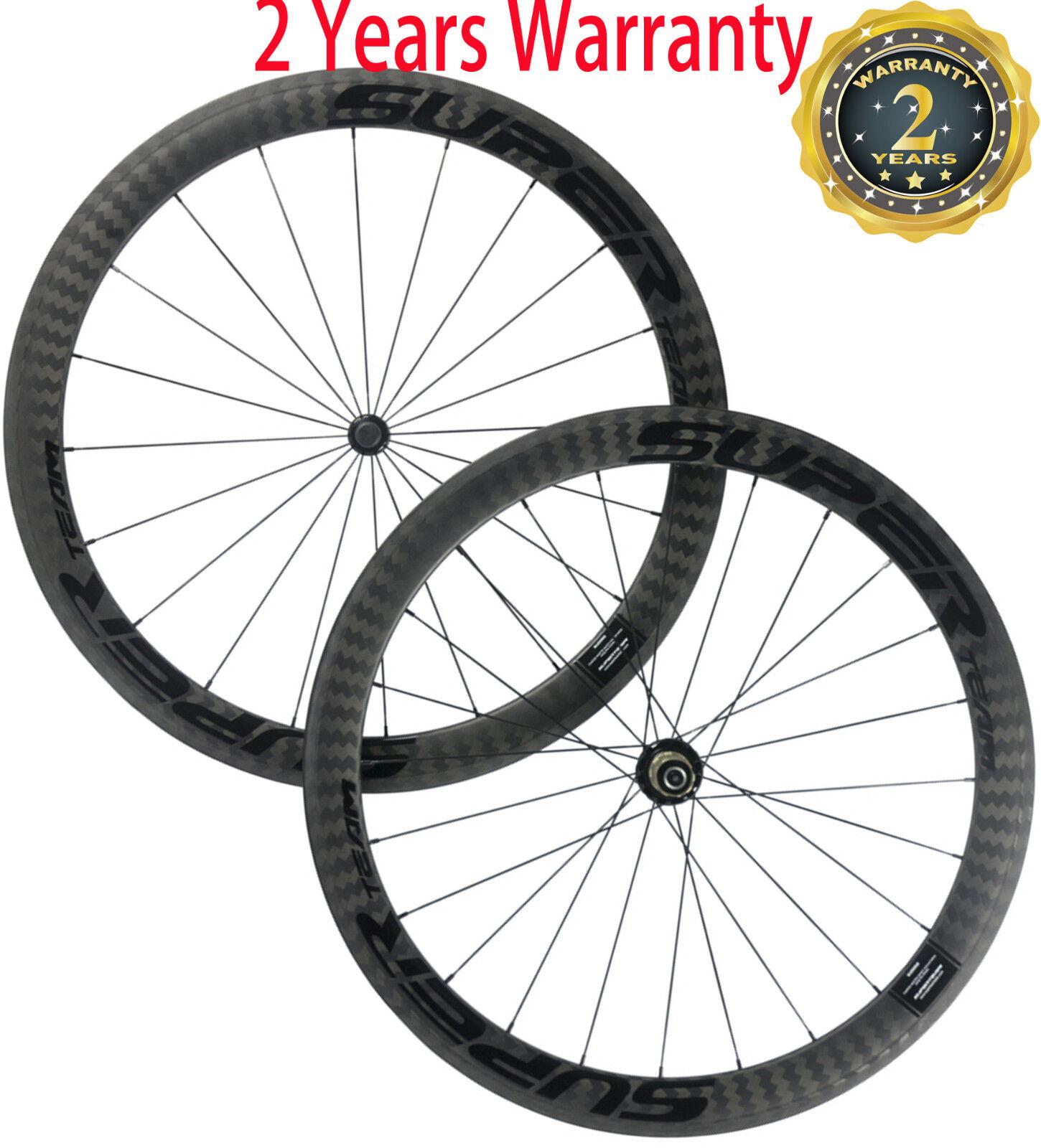 Carbon Wheels 50mm 25mm Width U Shape Clincher Wheels R36 700C Bicycle Wheelset