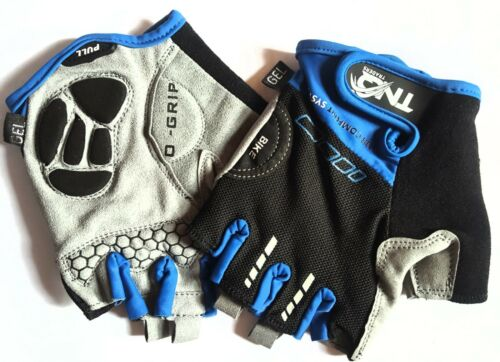 BIKE OUTDOOR MOTORCYCLE CYCLING BICYCLE RACING RIDING HALF FINGER GLOVES Gel TNQ