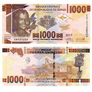 Pick-NEW-GUINEA-Guinee-1000-Francs-2017-UNC-919564vvv