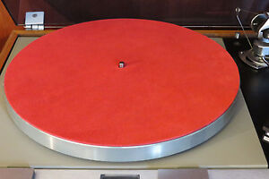 NEW-Audiophile-RED-Leather-Turntable-Record-Player-Mat