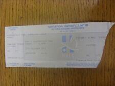 27/12/1993 Ticket: Hartlepool United v Huddersfield Town (Complete, Corner Torn