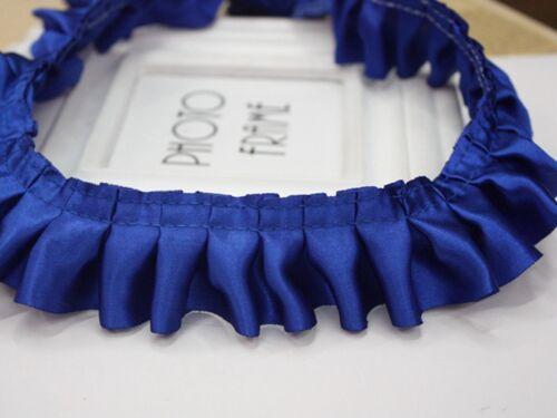 5 M Volants Plissé Satin Ribbon Trim 40 mm Couture Mariage Artisanat Couleur choic