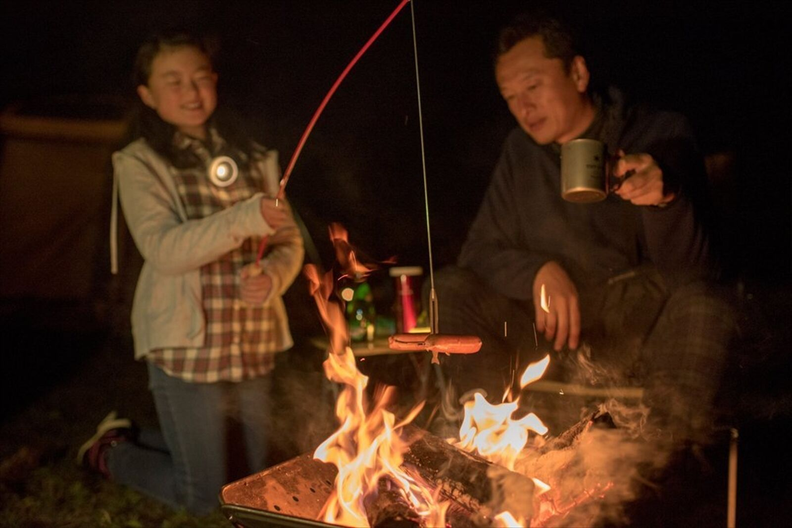New snow peak grill bbq - rote küche camping wander - f   s aus japan