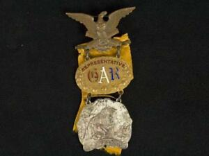NobleSpirit {3970} Los Angeles Cal. Grand Army of the Republic Medal 1890 w/ COA