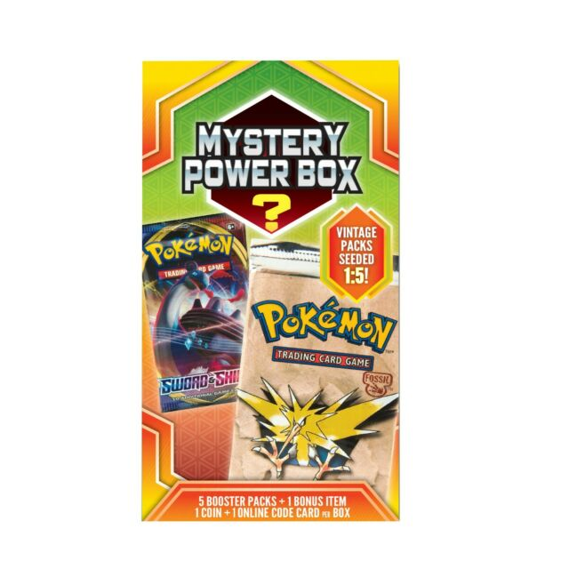 Pokemon Mystery Power 4 Box Factory Sealed 5 Booster Packs Walmart Vintage New!