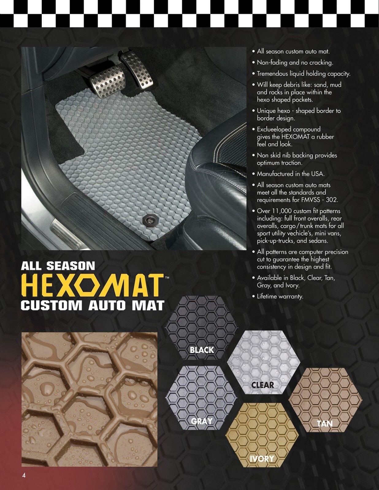 Intro-Tech All Weather Floor Mats w OEM fastening system Fiat 500X 2016-18