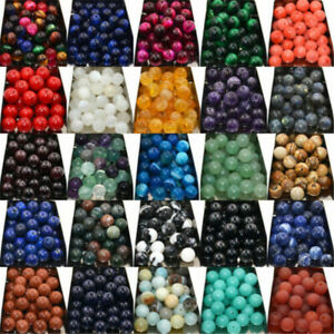 New-Wholesale-Lot-Natural-Gemstone-Round-Spacer-Loose-Beads-4MM-6MM-8MM-10MM