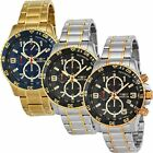 Invicta Specialty Chronograph 18kt Gold Ion-plated Mens Watch