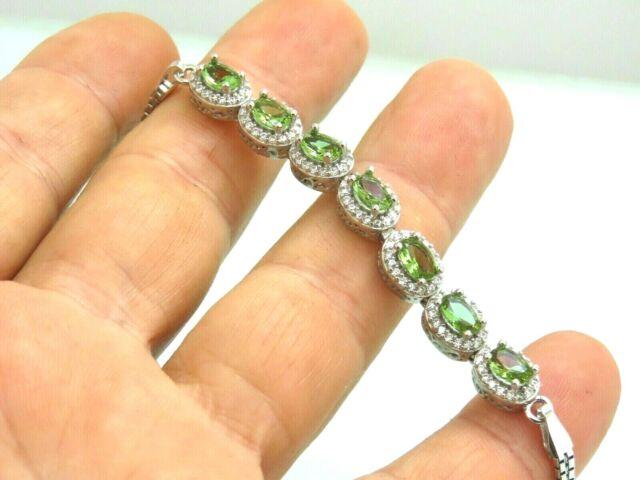 Turkish Handmade Jewelry 925 Sterling Silver Alexandrite Stone Women Bracelet