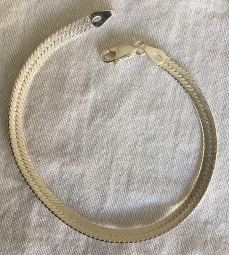 Tolles Kobra Armband 19 cm aus 925er Silber 14