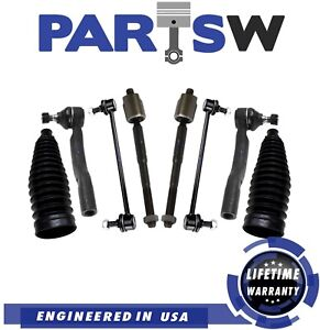 8 NEW PC Control Arm Inner Outer Tie Rod End Sway Bar Link Kit for Dodge