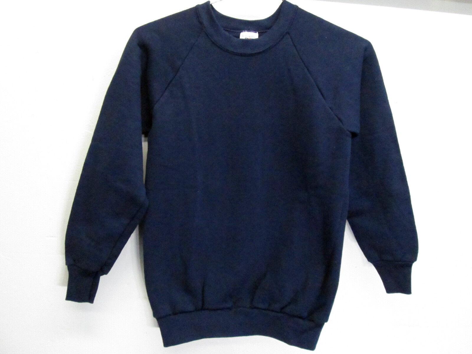 vtg BVD Navy Blue small 50/50 cotton polyester sweatshirt NOS 1980 USA made EUC!